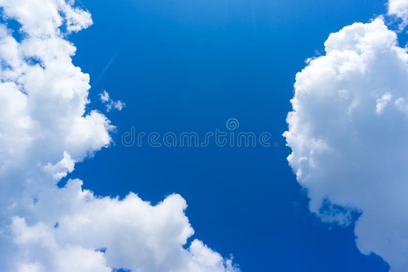 Cloud in the blue sky.  royalty free stock images