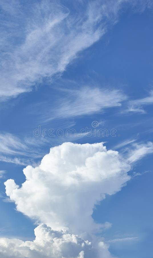 CLOUD ON BLUE SKY. Background royalty free stock photos