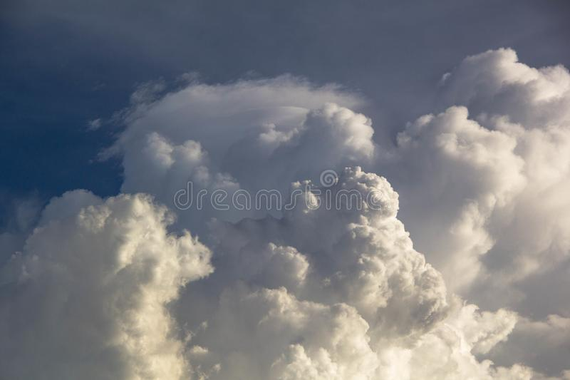 Cloud and blue sky. Background stock photo