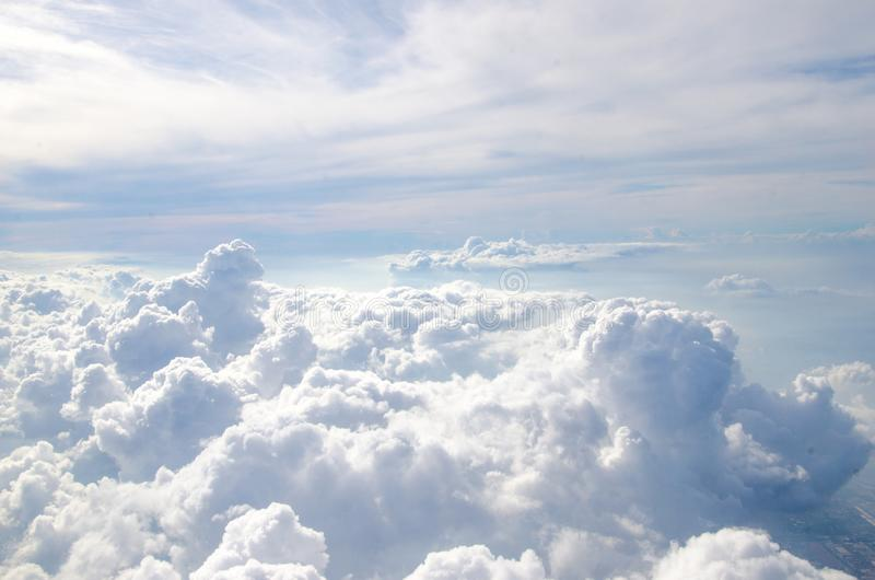 The cloud on the blue sky. Background royalty free stock image