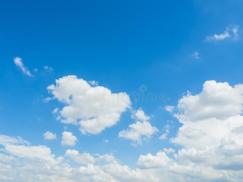 Cloud with blue sky background. Daytime colourful royalty free stock image