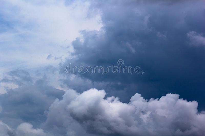 Cloud and blue sky. Background royalty free stock image