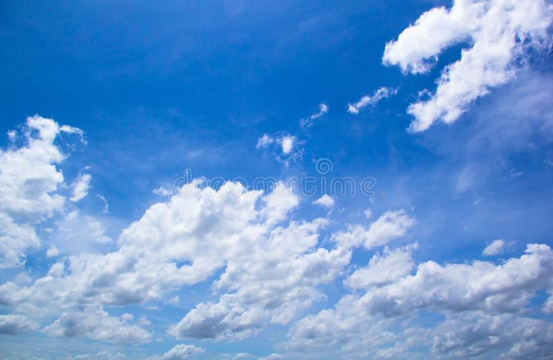 Cloud and blue sky. Background stock photography