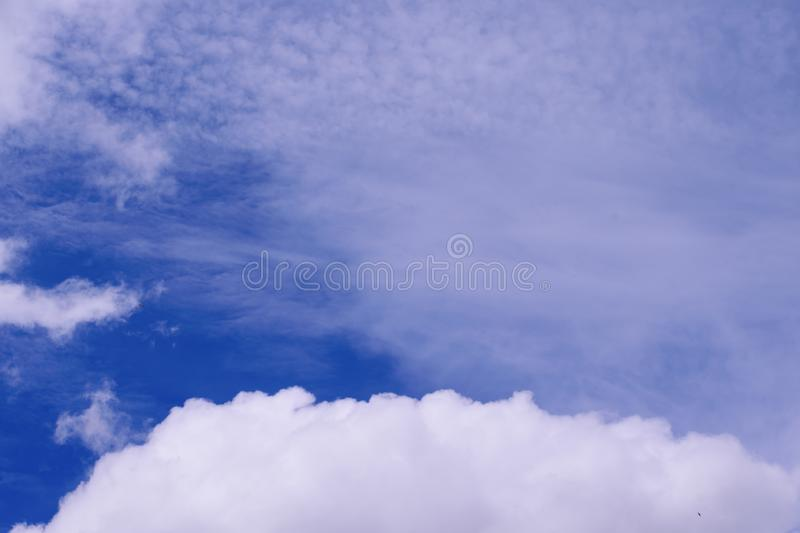 Cloud in the blue sky. To make a background image stock photo