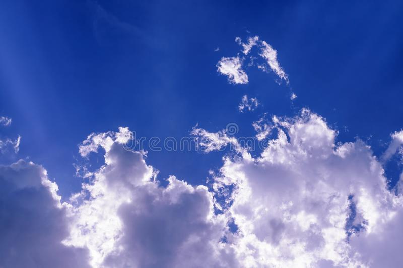 Cloud in the blue sky royalty free stock photos