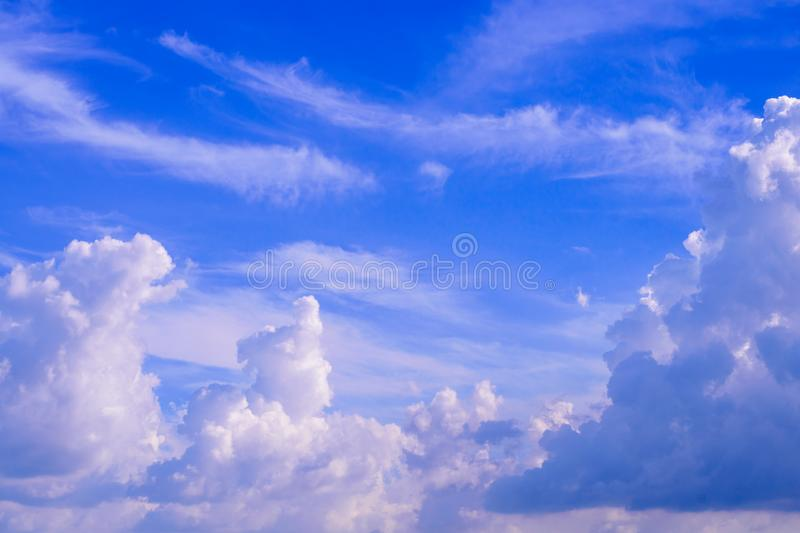 Cloud in the blue sky royalty free stock photo