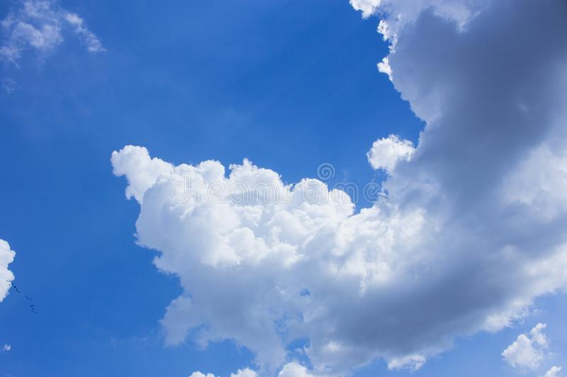The cloud and blue sky, the cloud and sunlight. Shining stock images