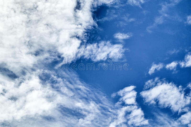 Cloud at blue sky. Clouds in the blue sky make beautiful motifs royalty free stock photo