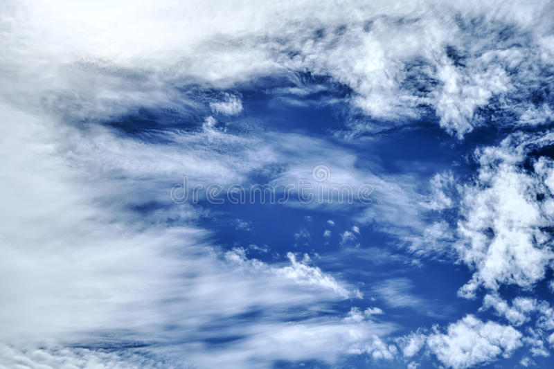 Cloud at blue sky. Clouds in the blue sky make beautiful motifs royalty free stock images