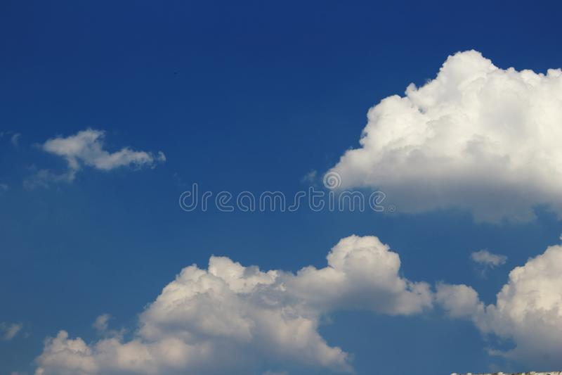 Cloud and blue sky. Image of cloud and blue sky in soft focusing royalty free stock images