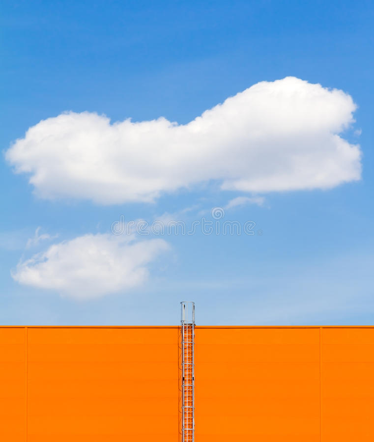 Cloud in blue sky and ladder royalty free stock photos