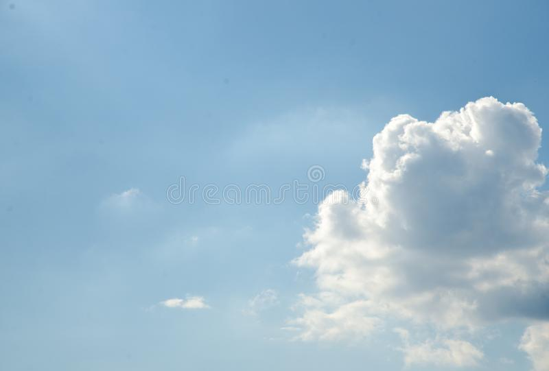 The cloud on the blue sky. In the morning royalty free stock photos