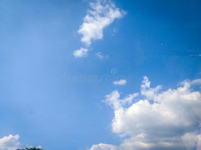 Cloud with blue sky in the morning time. With long shot stock images