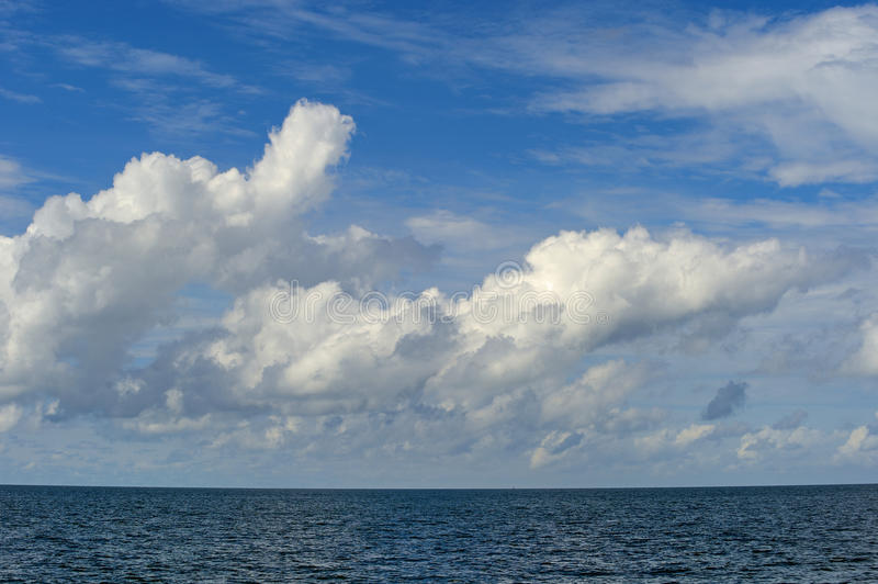 Cloud and blue sky. Nice cloud and sunlight with blue sky royalty free stock photo