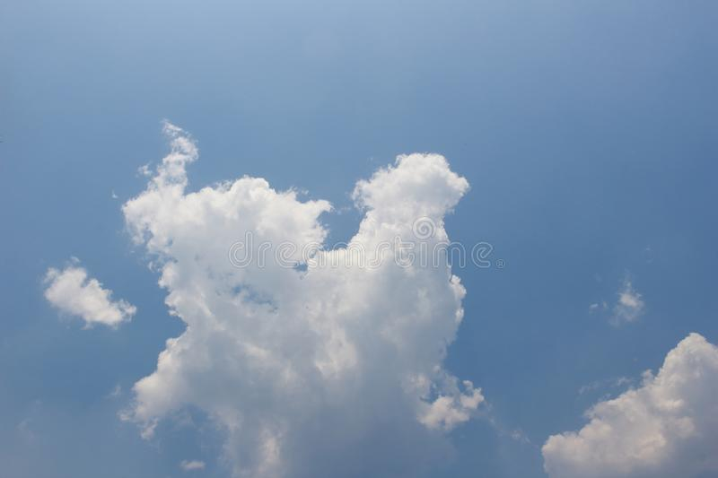 Cloud and blue sky. In soft focusing stock photography