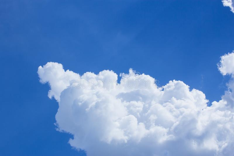 The cloud and blue sky, the cloud and sunlight royalty free stock image