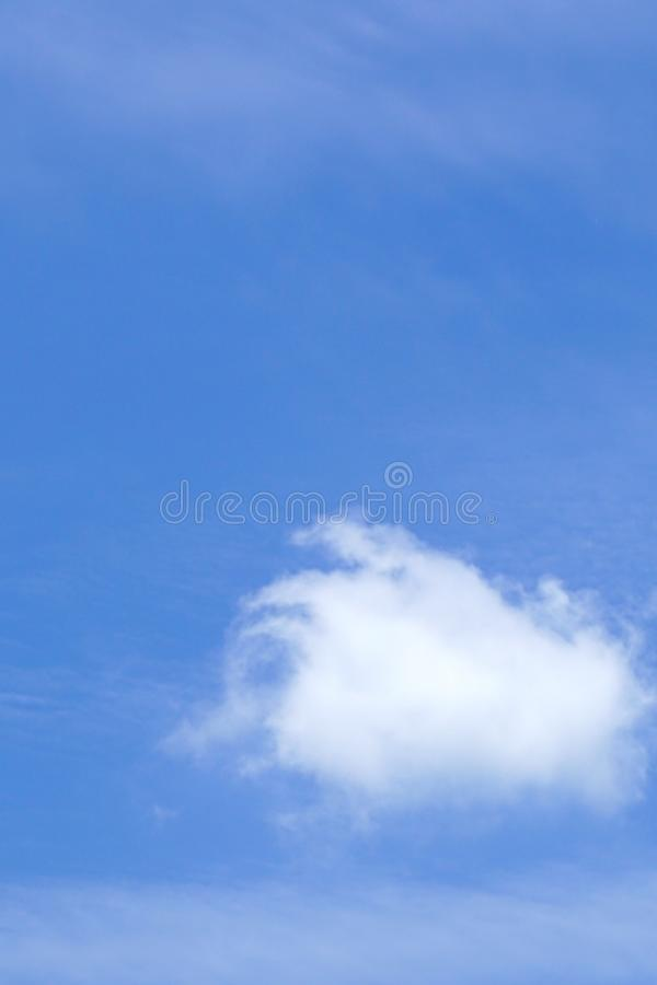 A cloud and blue sky royalty free stock photography