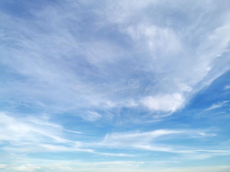 Cloud on blue sky. Texture of cloud on blue sky royalty free stock photo