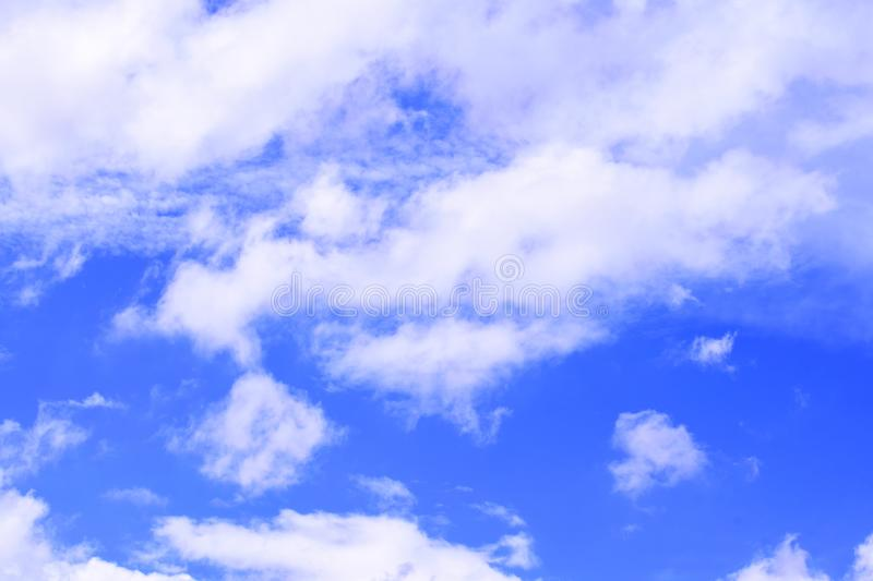 Cloud in the blue sky. To make a background image royalty free stock photos