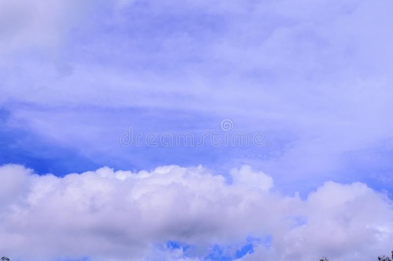 Cloud in the blue sky royalty free stock photography