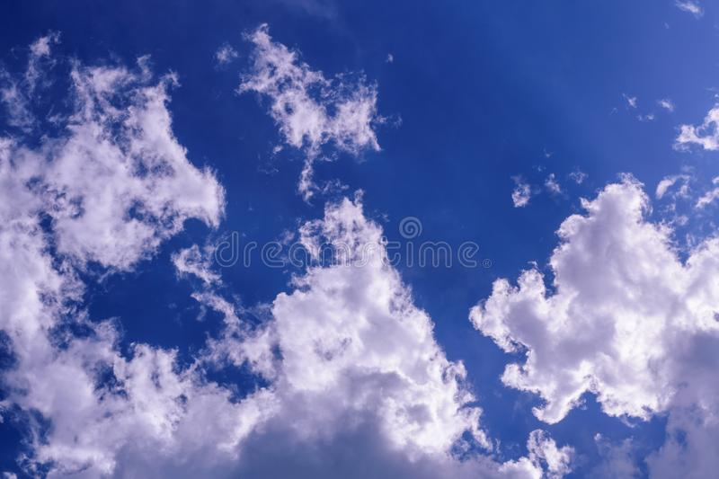 Cloud in the blue sky stock images