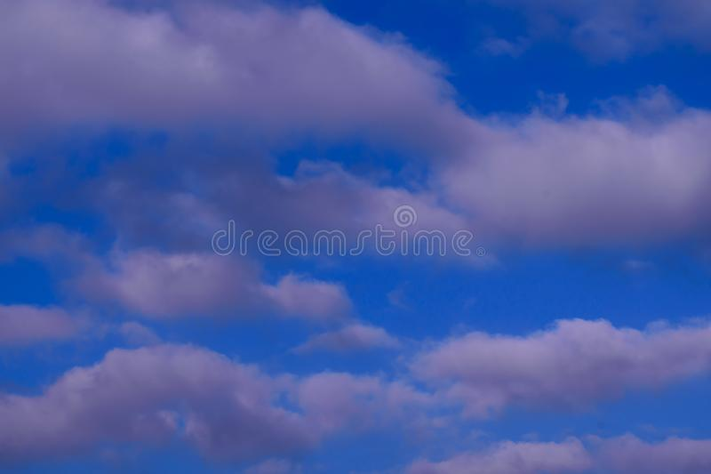 Cloud in the blue sky stock photography