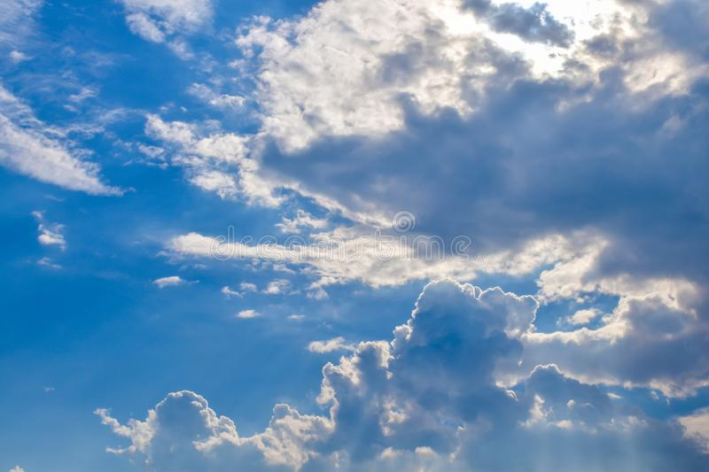 Cloud in the blue sky stock image
