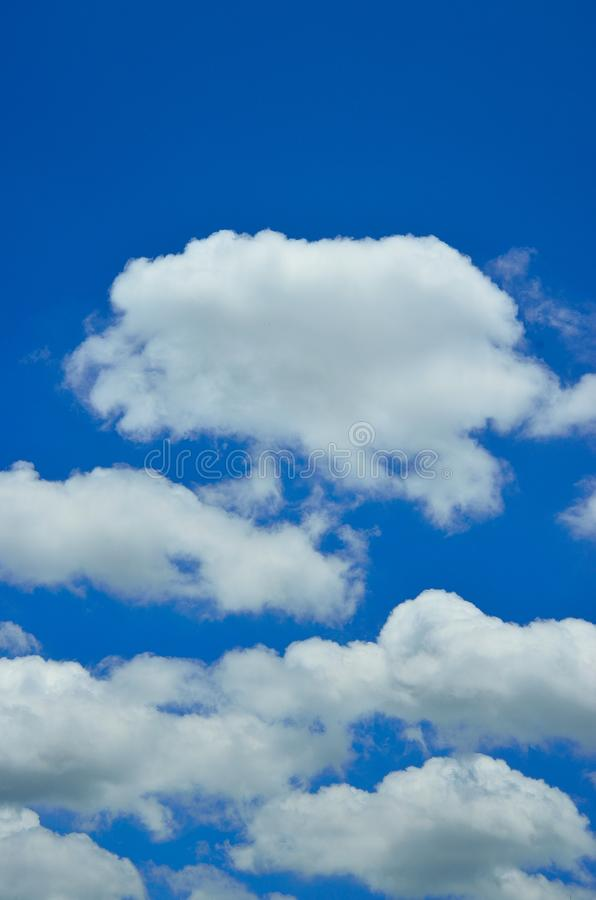 Cloud in blue sky. White cloud in blue sky royalty free stock images