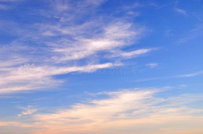 Cloud in the blue sky. White cloud in the blue sky stock images