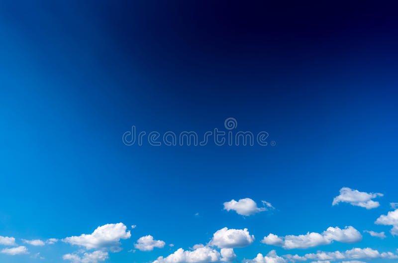 Cloud with blue sky. White cloud with blue sky royalty free stock photography