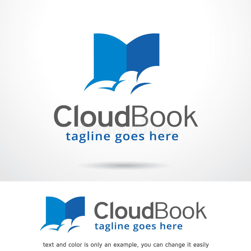 Cloud Book Logo Template Design Vector stock illustration
