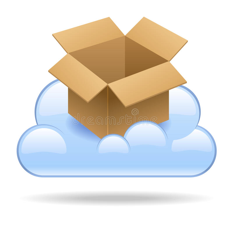 Download Cloud Box stock vector. Image of website, graphic, button - 25832276