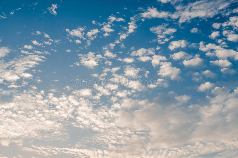 Cloud in bright rainbow colors and Colorful smooth sky in dusk. Altocumulus cloud in bright rainbow colors and Colorful smooth sky in dusk stock images