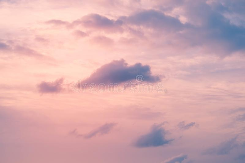 Cloud in bright rainbow colors and Colorful smooth sky in dusk. Altocumulus cloud in bright rainbow colors and Colorful smooth sky in dusk royalty free stock photos