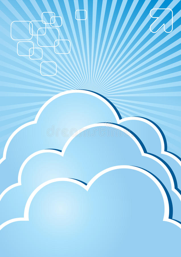 Cloud Brochure Internet Stock Photography