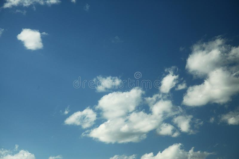 Cloud in bule sky for background and sky scape.  royalty free stock images