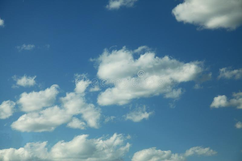 Cloud in bule sky for background and sky scape.  royalty free stock photo