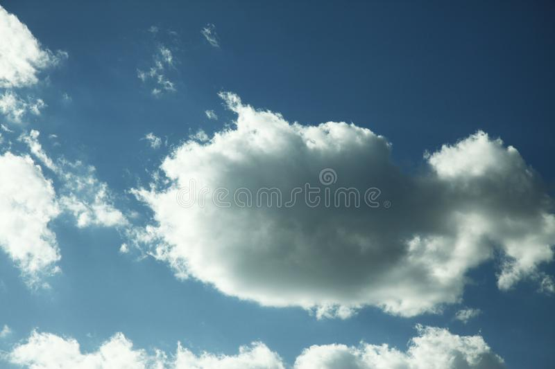 Cloud in bule sky for background and sky scape.  stock image