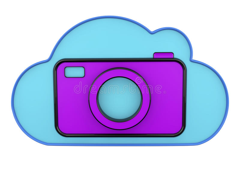 Cloud And Camera 3d Icons Stock Photography