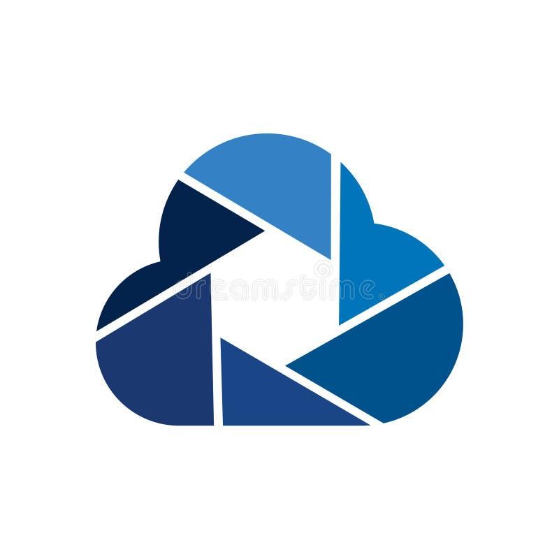 Cloud Camera Photography Image Storage Logo Symbol royalty free illustration