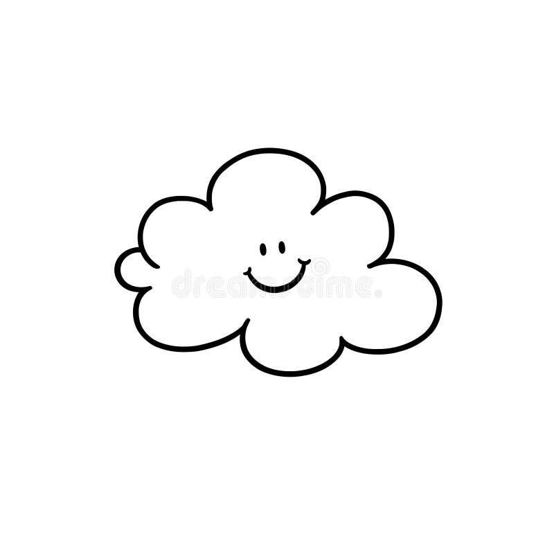 Cloud cartoon outline stock illustration illustration of happy cloud cartoon outline voltagebd Choice Image
