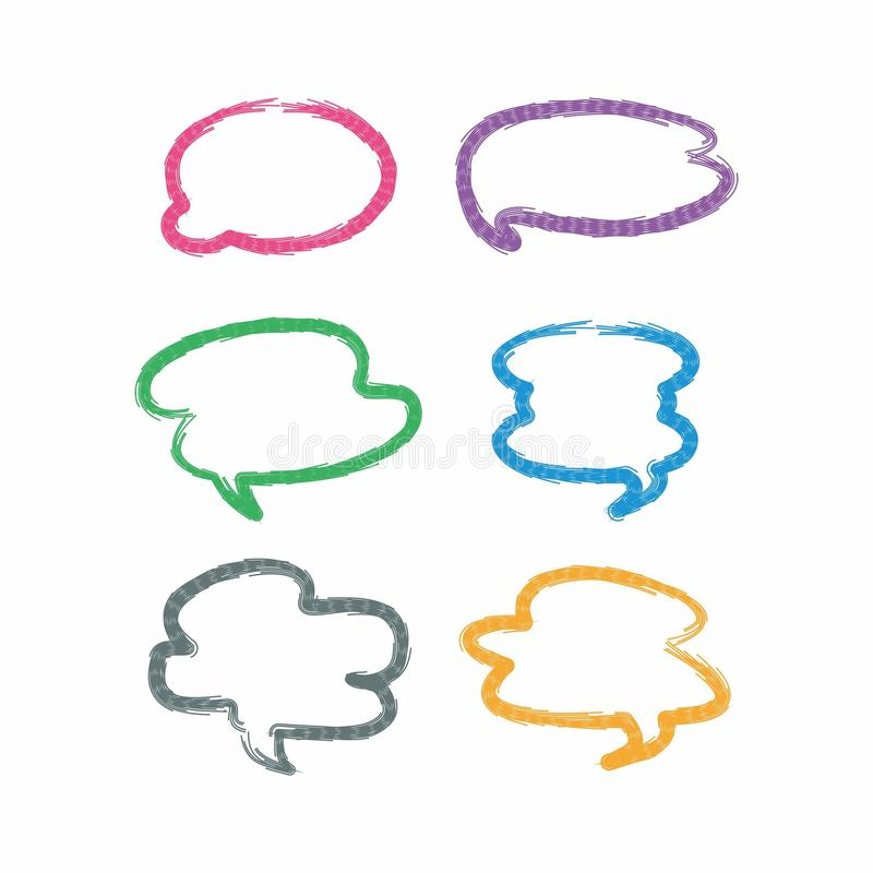 cloud chat messege flat design, chatting design royalty free stock image