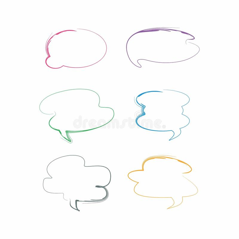 cloud chat messege flat design, chatting design royalty free stock photo
