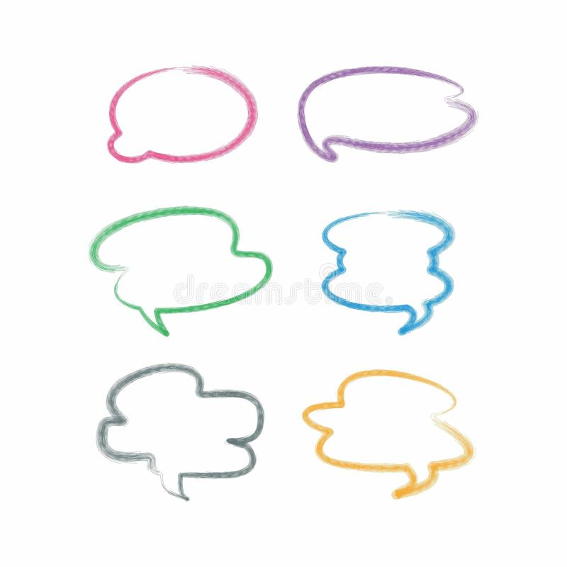 cloud chat messege flat design, chatting design royalty free stock photography