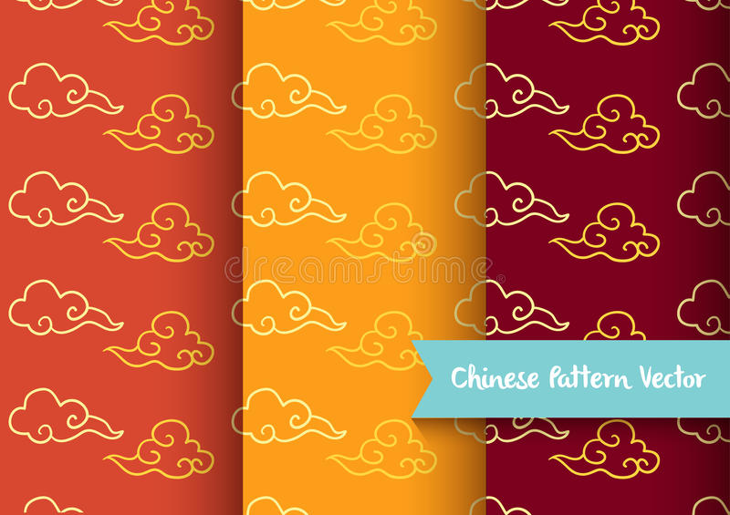 Cloud chinese pattern vector illustration