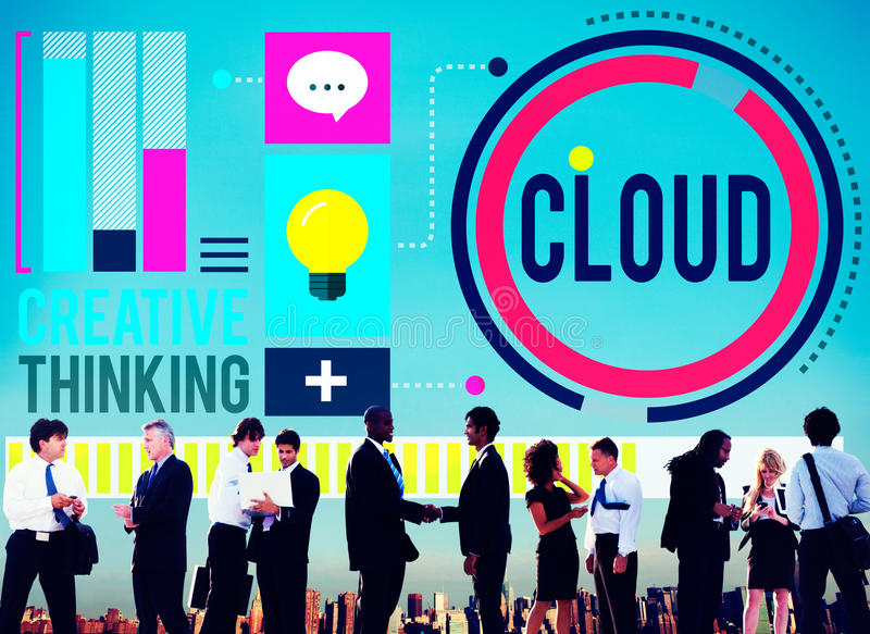 Cloud Cloud Computing Cloud Networking Data Storage Concept royalty free stock photo