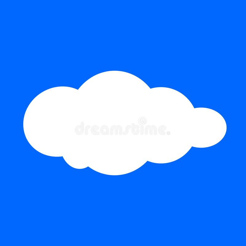 Cloud, clouds shape, white clouds isolated on blue background, clip art cartoon clouds, illustration cloud for clipart royalty free illustration