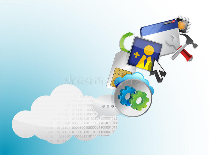 Download Cloud Of Colorful Application Icons Stock Illustration - Image: 29311352