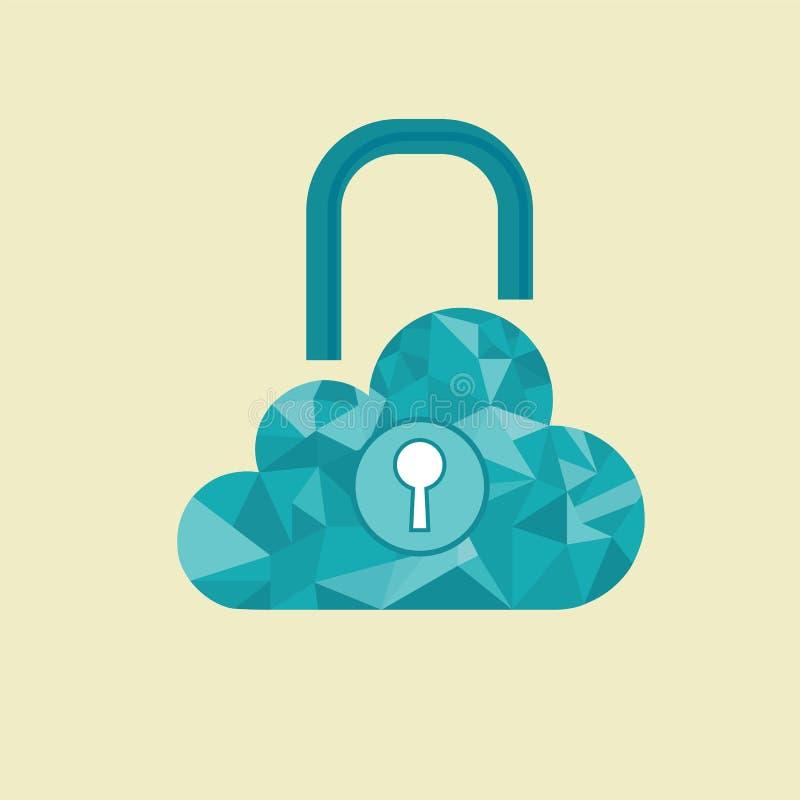 Cloud computer vector illustration