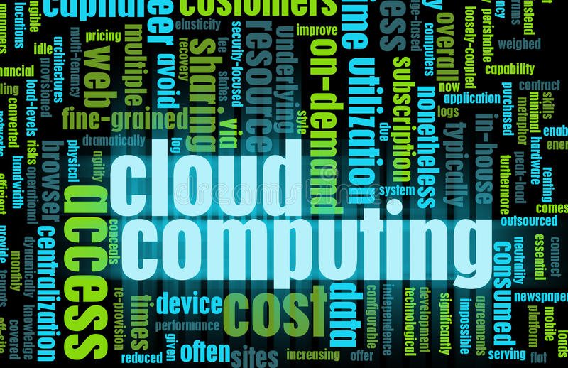 Cloud Computing. Technology Concept as a Abstract